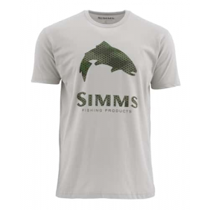 Simms Hex Camo Logo Trout Short Sleeve Tee Closeout Sale (1-29-18)