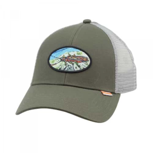 Simms Salmon Fly Patch Trucker