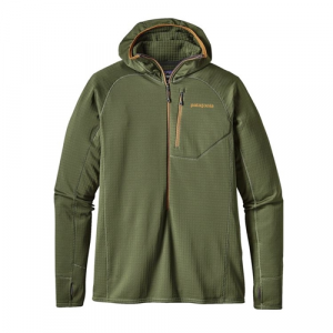 Patagonia Men's R1 Hoody Buffalo Green Closeout Sale(12-5-17)