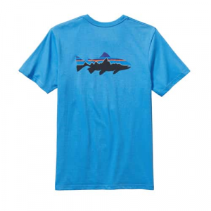 Patagonia Men's Fitz Roy Trout Cotton T-Shirt Closeout Sale