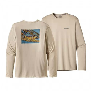 Patagonia Men's Graphic Tech Fish Tee Closeout Sale