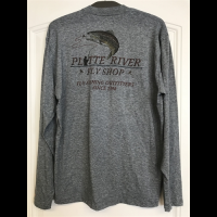 Platte River Fly Shop Logo Simms Tech Tee LS Bargain Sale