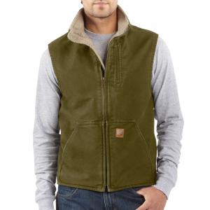 photo: Carhartt Sandstone Mock-Neck Vest/Sherpa-Lined synthetic insulated vest
