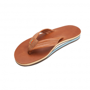 Rainbow Sandals Double Layer Classic Leather Mens Flip Flops