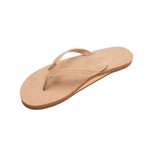 Rainbow Sandals Premier Leather Narrow Strap Womens Flip Flops