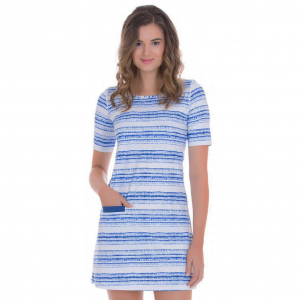 Cabana Life Navy Batik Stripe Dress