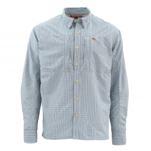 Simms Bugstopper Long Sleeve Plaid Mens Shirt