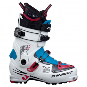 tlt6 mountain cr ski boot - women's- Save 40% Off - Similar to the TLT6 Performance boot, Dynafit's women's TLT6 Mountain CR Ski Boot lets you climb, walk, and ski all but the most demanding terrain. Compact Grilamid lower shells are compact for easy, agile walking while the cuff and spoiler are also crafted from Grilamid for lightweight freeski performance. You'll come to appreciate the all-day comfort of the Custom Ready Thermo-moldable liner's anatomic construction in the late hours of your tour while the double buckles provide a secure and quick closure.