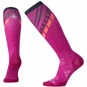 phd ski ultra lt pattern women's- Save 30% Off - For the lady shredder who wants the minimum between foot and boot, the SmartWool PhD ski ultra light offers the benefits of Merino in a high-performance fit. Featuring Indestructawool technology for long-lasting wear, 4 Degree elite fit system, mesh ventilation zones, and our signature Virtually Seamless toe for ultimate comfort in a ski boot