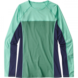 micro swell rashguard women's- Save 29% Off - For all-day comfort in the water, the stretchy and fast-drying Patagonia Micro Swell Rashguard has 50+ UPF sun protection, long sleeves, a high crewneck and strategically placed seams to prevent chafing. Made with Fair Trade Certified sewing.