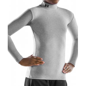 photo: Under Armour Girls' ColdGear Longsleeve Mock base layer top