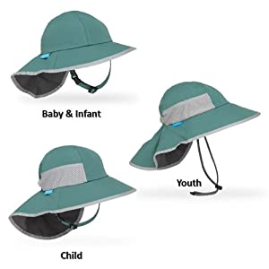 Sunday Afternoons Kids' Play Hat, Infant, Seagrass/Charcoal
