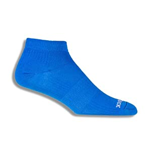 Wrightsock Coolmesh II Low Running Socks - 2 Pack, Electric Blue, Large