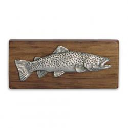 11 Outdoors Brown Trout Handcrafted Money Clip - Walnut