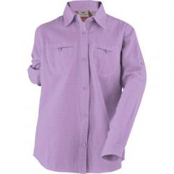 White Sierra Youth Girl ' S Canyon Crest Long Sleeve Shirt - Sheer Lilac