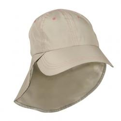 Outdoor Cap Deluxe Guide Hat With Neck Flap - Khaki / Pink