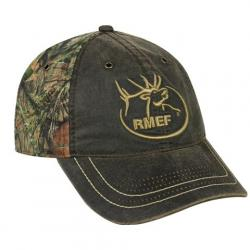 Outdoor Cap Rmef Weathered Cotton / Camo Cap - Dark Brown / Mossy Oak Break - Up