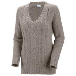 Columbia Women ' S Cabled Cutie Long Sleeve Sweater - Flint