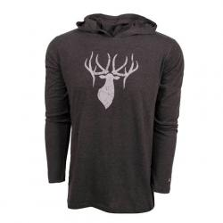 King ' S Camo King ' S Triblend Hooded Tee - Heathered Gray