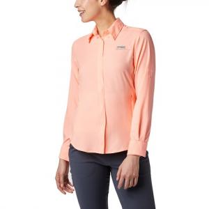 Columbia Women ' S Pfg Tamiami Ii Long Sleeve Shirt - Tiki Pink