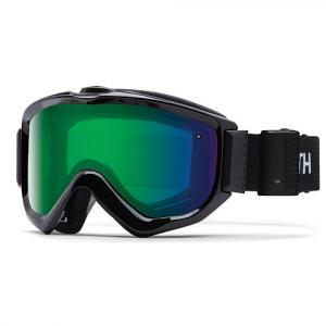Smith Knowledge Turbo Fan Otg Snow Goggle - Black / Chromapop Everyday Green Mirror
