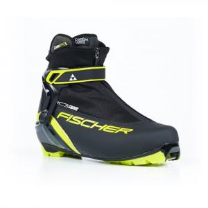 Fischer Men ' S Rc3 Skate Nordic Boot - Black / Yellow