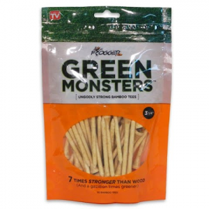 Charter Products Frogger Green Monster Bamboo 3 1 / 4 - Inch Tees ( 50 Pack )