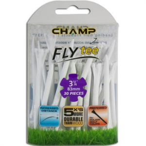 Charter Products Champ Fly Tees , 3 1 / 4 Inch ( 30 Pack ) - White