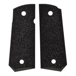 Ergo Grips Xtro Officer ' S Model Tapered Bottom Hard Rubber 1911 Grip - Black