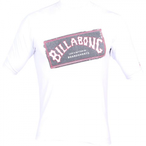 Billabong Boys Youth Iconic Short Sleave Rashguard - White