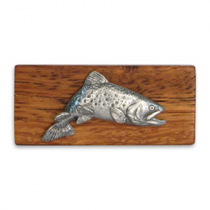 11 Outdoors Jumping Brookie Handcrafted Money Clip - Zebrawood