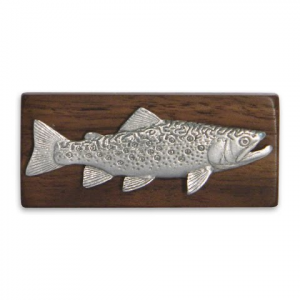 11 Outdoors Brook Trout Handcrafted Money Clip - Walnut