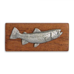 11 Outdoors Cutthroat Trout Handcrafted Money Clip - Mesquite