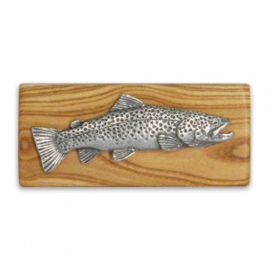 11 Outdoors Brown Trout Handcrafted Money Clip - Almond