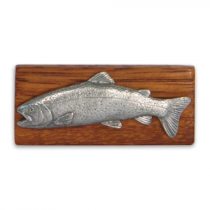 11 Outdoors Rainbow Trout Handcrafted Money Clip - Zebrawood