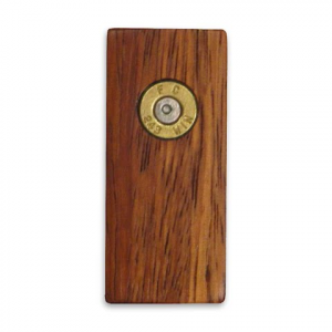 11 Outdoors . 243 Winchester Handcrafted Money Clip - Zebrawood