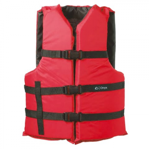 Onyx Adult Universal General Purpose Pfd Vest - Red / Black
