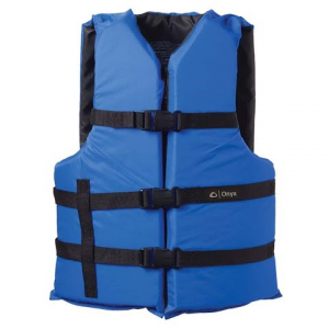 Onyx Adult Universal General Purpose Pfd Vest - Blue / Black