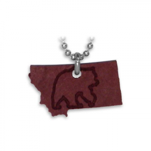 Benna Designs Montana Engraved Necklace - Red