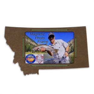 Benna Designs Montana 4x6 Magnetic Picture Frame - Brown