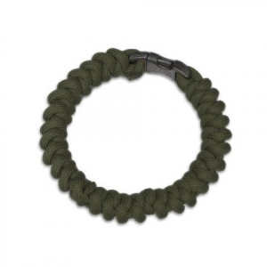 Tactical Crusader Flyye Mil - Spec Paracord Snake Weave Survival Bracelet - Green