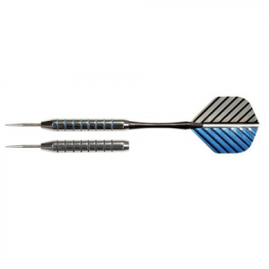 Dmi Nodor Striped Metallic Steel Tipped Darts In Case - Striped Metallic