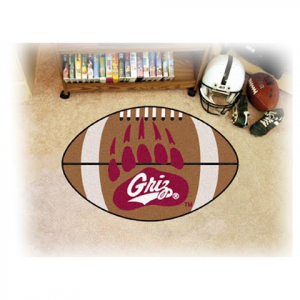 Fanmats University Of Montana Grizzlies Football Rug - U Of M Griz Paw Logo