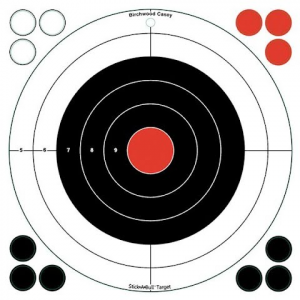 Birchwood Casey Stick - A - Bull 12 Inch Bulls - Eye Self Adhesive Targets ( 5 - Pack )