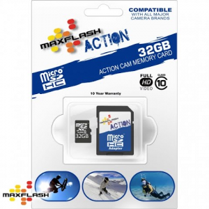 Delkin 32 Gb Maxflash Action Micro Sd Hc Card , Class 10