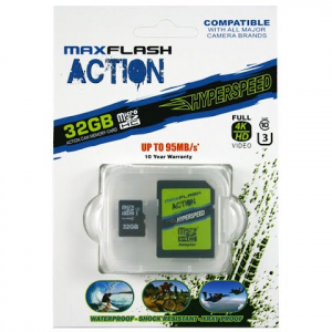 Delkin Action 32gb Hyperspeed Microsd Memory Card