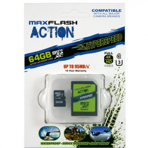 Delkin Action 64gb Hyperspeed Microsd Memory Card
