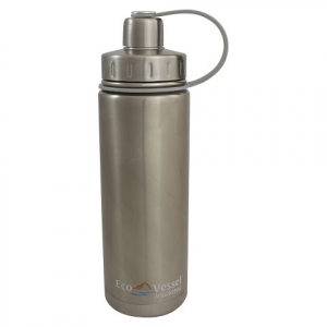 Eco Vessel Boulder 20oz Insulated Bottle - Silver Express