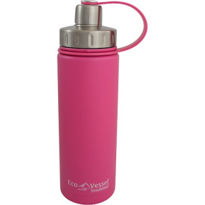 Eco Vessel Boulder Insulated 17oz Water Bottle - Ava Pink