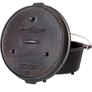 Camp Chef Cast Iron Deluxe 14 In . Dutch Oven
